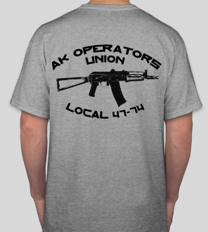 AK Operators Union T-Shirt in Grey